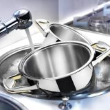 It provides limescale-free water to protect your cookware.